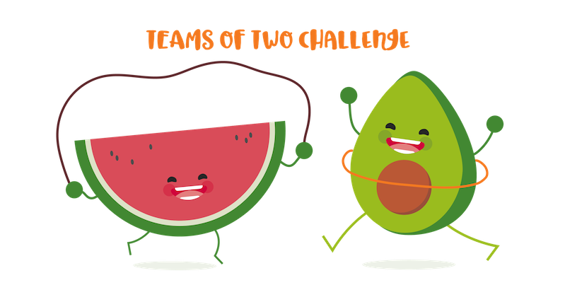 Corporate Wellness Program Ideas - Teams of two challenge