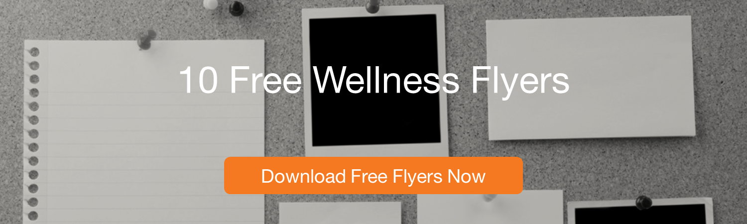 CTA 10 free wellness flyers wellable