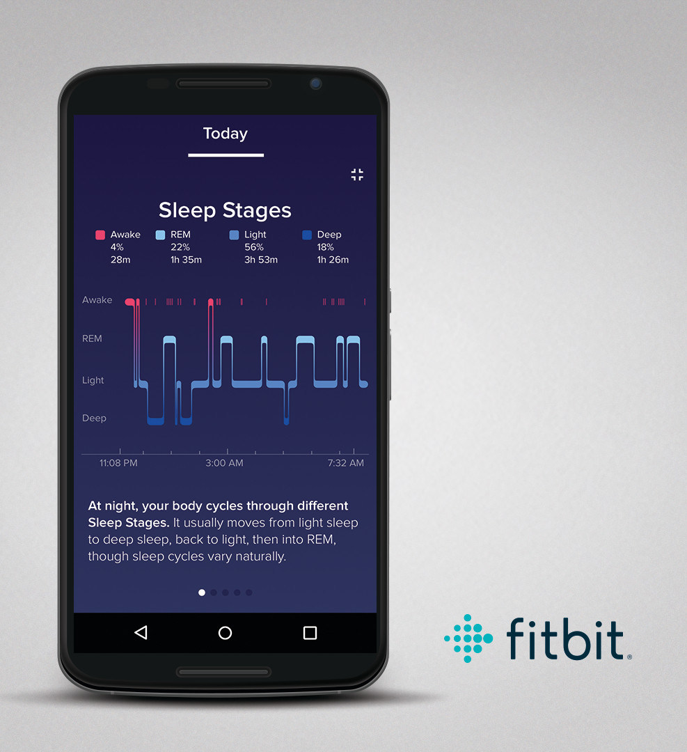 Fitbit sleep stages mobile app