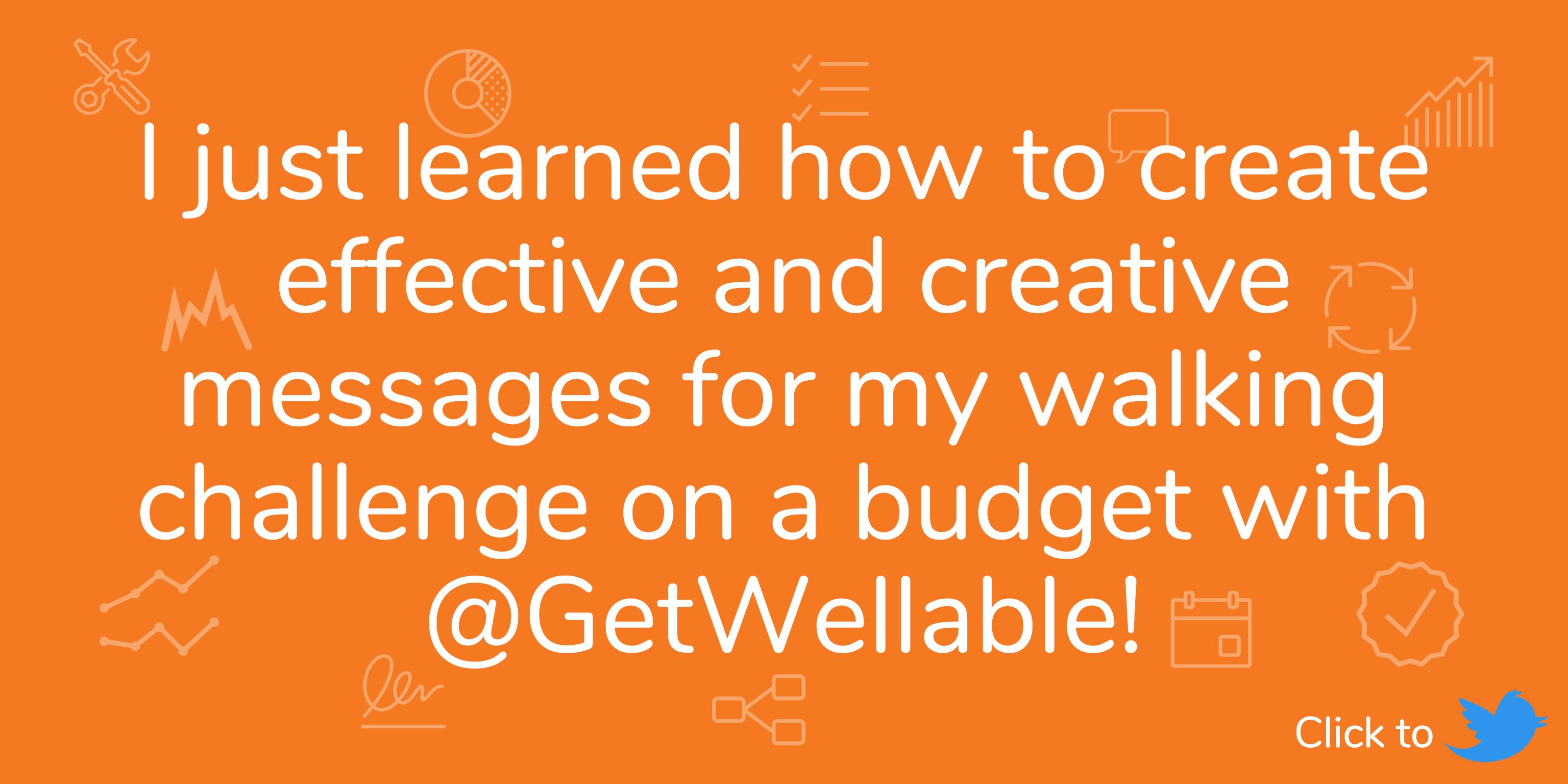 wellness challenge on a budget