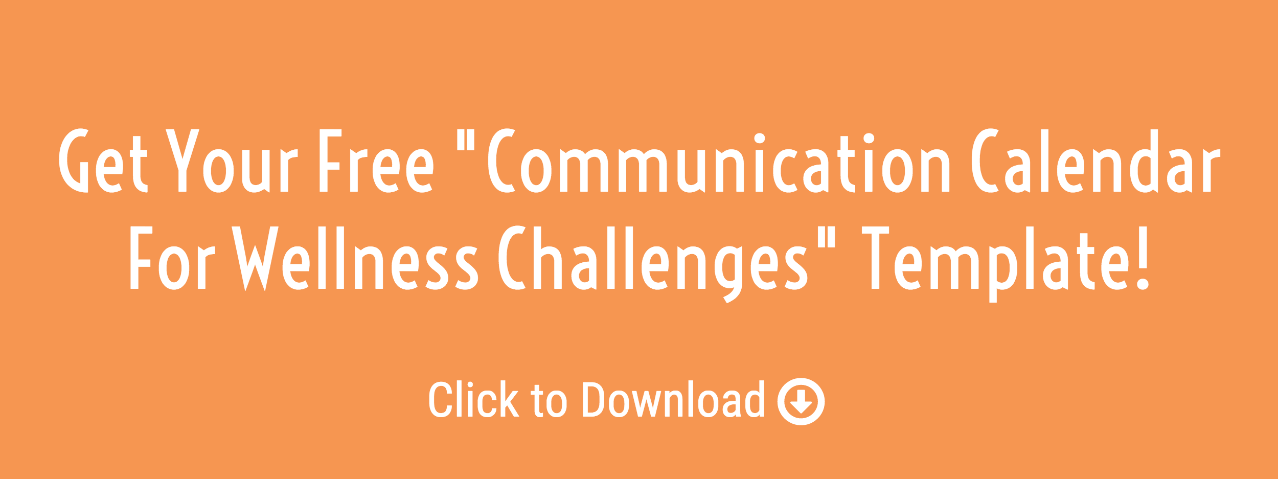 communication calendar for wellness challenges template